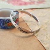 bangle,bracelet,engraved,silver