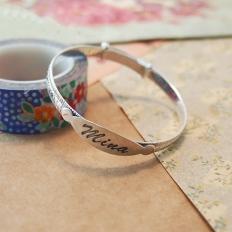 925 Sterling Silver Engraved Name Bracelet - Baby gift new arrivals - bangle,bracelet,engraved,silver