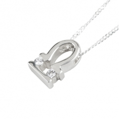 925 Sterling Silver Libra Necklace - necklace,couple,key,heart,silver