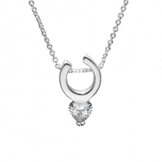 925 Sterling Silver Taurus Necklace - necklace,couple,key,heart,silver