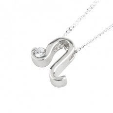 925 Sterling Silver Leo Necklace - necklace,couple,key,heart,silver