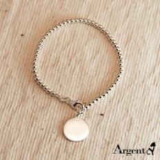 925 Sterling Silver Round Bracelet - necklace,couple,key,heart,silver