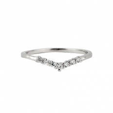 925 Sterling Silver V-Diamond Ring - Fashion accessories -