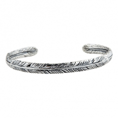 925 Sterling Silver Feather Bracelet - necklace,couple,key,heart,silver