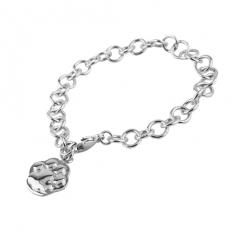 925 Sterling Silver Cats Palm Bracelet - necklace,couple,key,heart,silver