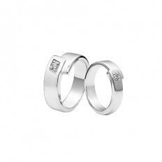 925 Sterling Silver Promise Rings - necklace,couple,key,heart,silver