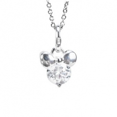 925 Sterling Silver Romantic Diamond Necklace - necklace,couple,key,heart,silver