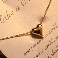 Rose Gold Plated GP Simply Cute Love Heart Necklace - Mini,Fashion,Necklace