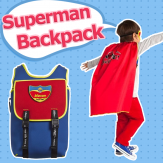 Children, bags, Superman, modeling