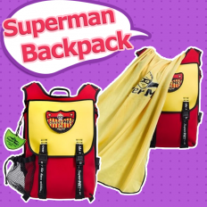 SuperME Golden Metal Cape Backpack - Children, bags, Superman, modeling