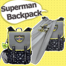 SuperME Ninja Graffiti Cape Backpack - Children, bags, Superman, modeling