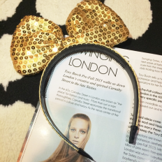 Gold Brilliant Hair Band -