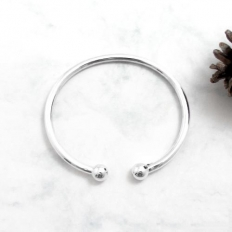 925 Sterling Silver Basic Model Ball Bracelet - bracelet,name,customize,silver