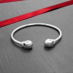925 Sterling Silver Skeletons Bracelet - bracelet,name,customize,silver