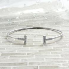 925 Sterling Silver Basic Models Shiny Bracelet - bracelet,name,customize,silver
