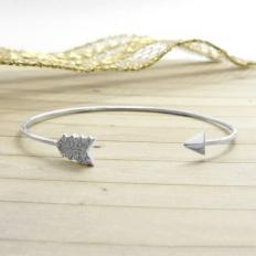 925 Sterling Silver Sword Shape Bracelet - bracelet,name,customize,silver