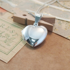 925 Sterling Silver Pandora's Box Love Necklace - necklace,couple,key,heart,silver