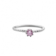 925 Sterling Silver Pink Diamond Ring - Fashion accessories - necklace,couple,key,heart,silver
