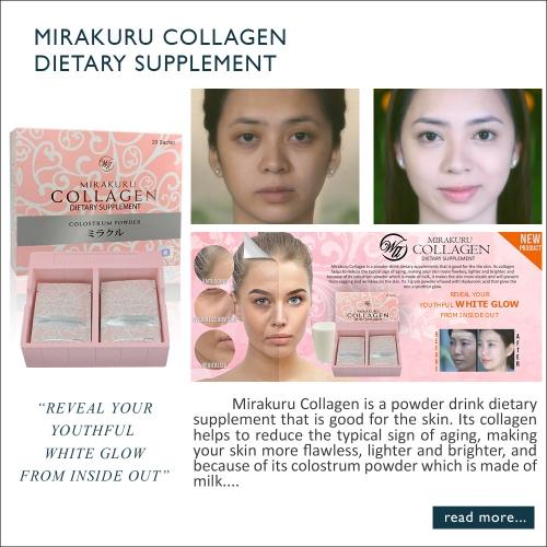 WII Mirakuru Collagen Powder Skin Care Anti-Aging 20 sachets per box