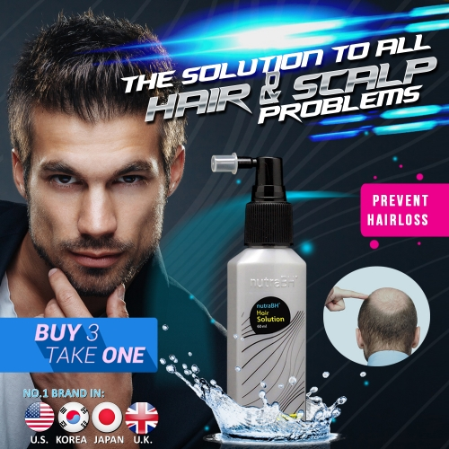 Nutra BH+ Hair Solution Buy3 Get1 Free