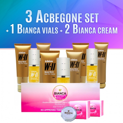 Acbegone Set Buy 3 And Get 1 Bianca Vials, 2 Bianca Cream 15ml For Free!!!